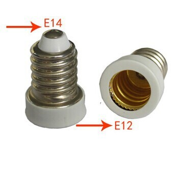 light adapter E14 to E12 lamp holder PCT material