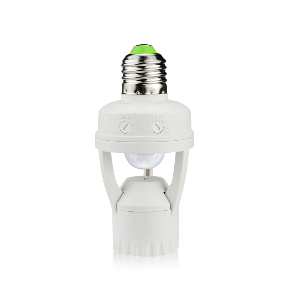 E27 LED Bulb Light Sensor Switch socket Lamp Holder
