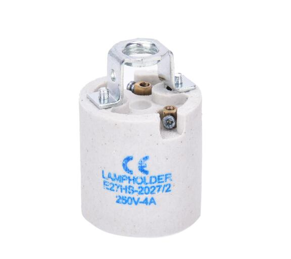 porcelain lampholder e27 , best selling ceramic lamp socket e27