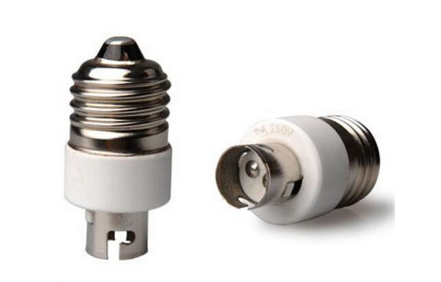 E27 to BA15d Lampholder Socket Adapter