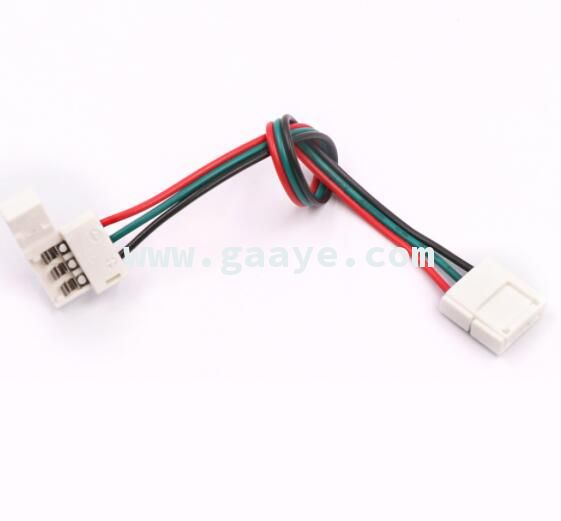 3 pin connector PCB Solderless Corner Connectors 1 2 Clip for 10mm width PCB led pixel strip
