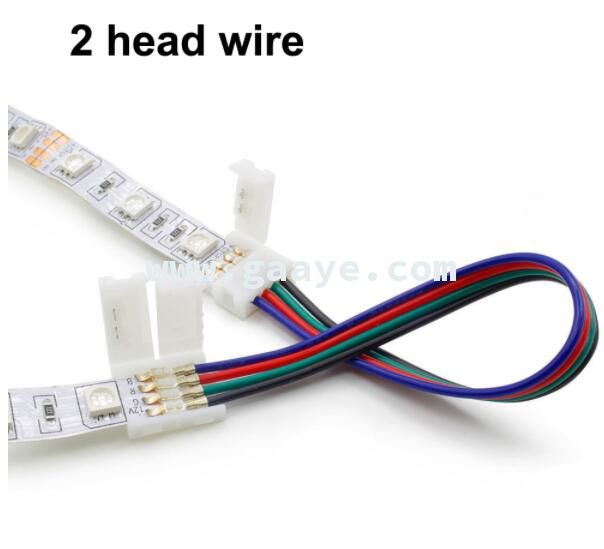 8mm 10mm 4 Pin 3528 2835 5050 Wire RGB Single Color solderless LED PCB board wire connectors
