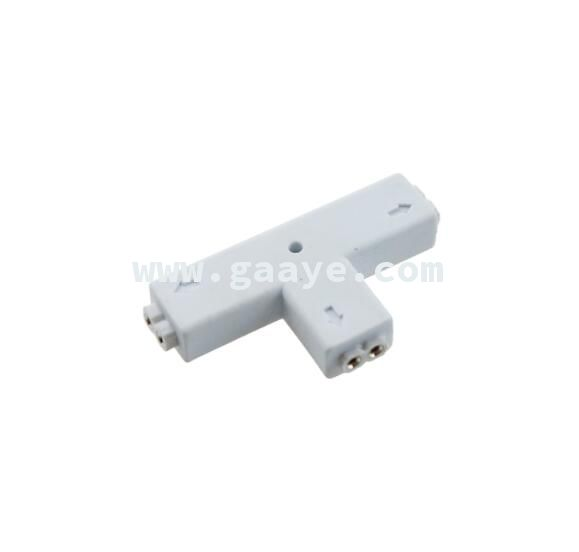 T Shape connector 8mm 10mm width with 2 pin for LED Single light 5050/3528 led strip accessories