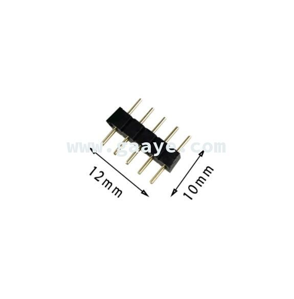 5 pin Plug Male Connector For RGBW / RGBWW Female SMD 5050 LED Strip RGB Single Color led lighting