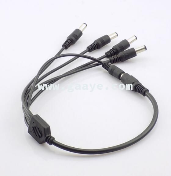 1 Female to 5 Male way Splitter Plug Cable 5.5mm*2.1mm 12V DC Power Supply for CCTV Camera Accessories led strip