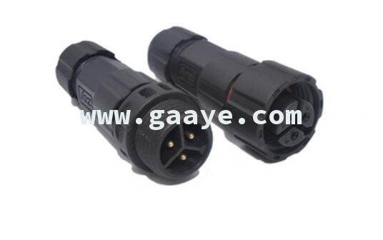 M16 3 pin 250V 15A IP68 male and female waterproof connector automotive wire connector terminals