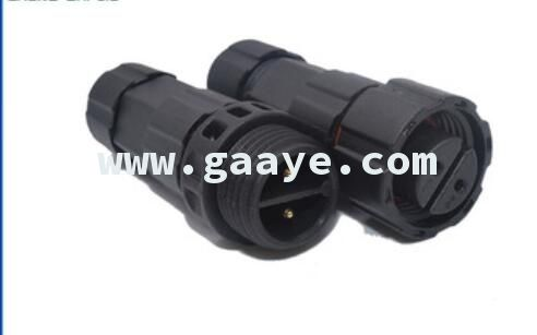 M16 2 pin 250V 15A IP68 male and female waterproof connector automotive wire connector terminals