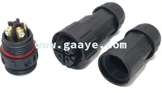M19 4pin Assembled Waterproof Electrical Cable Connector Plug Socket Connectors