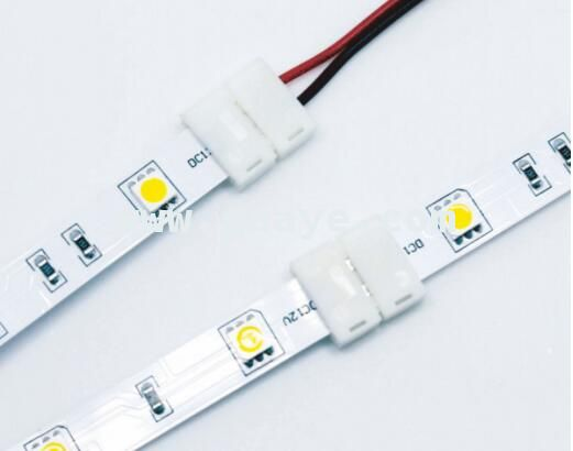 2 Pin 8mm 10mm Free Welding LED Strip Connector with Wire for Single Color Led Light