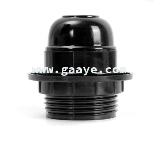 Black Bakelite Self-locking Cap Lighting screw Base socket E27 Lamp Holder