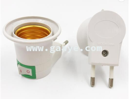 Hot sale plug bulb socket E27 LED Light lamp socket With ON/OFF Button Switch Power 220V