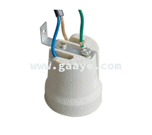 F519 Porcelain Bulb Lamp Socket with Holder