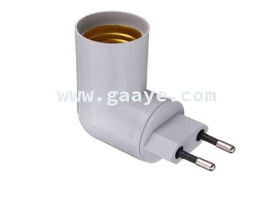 EU plug To E27 Base LED Light Lamp Holder Bulb Adapter Socket