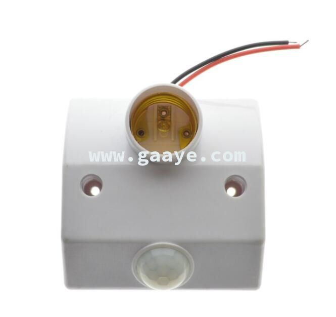 lamp base adapter E27 to E27 with PIR motion sensor