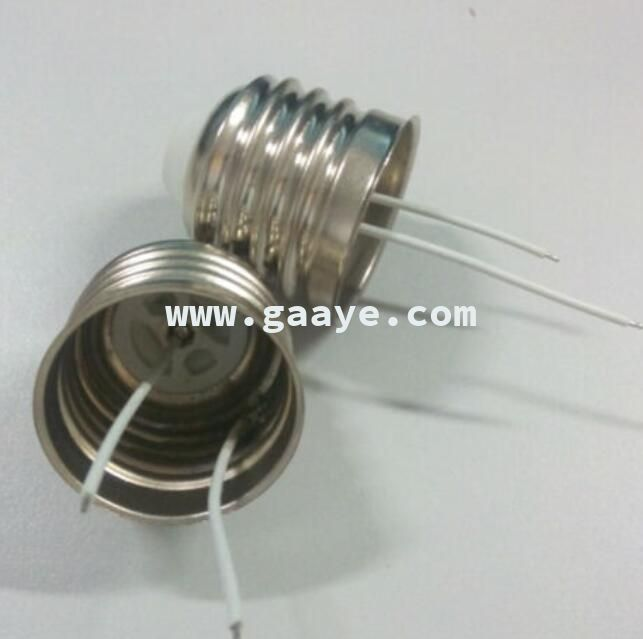 copper plated weld wire E27 lamp cap