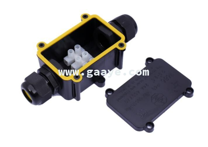 wire connector box 2 way IP68 outdoor electronic plastic terminal waterproof cable junction box