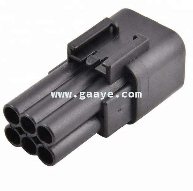 hot selling black waterproof 6 pole automotive push pin wire connectors