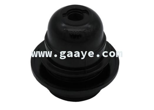 Set-screw terminal Bakelite lamp holder E27 half thread with ring ,without metal nut lamp socket