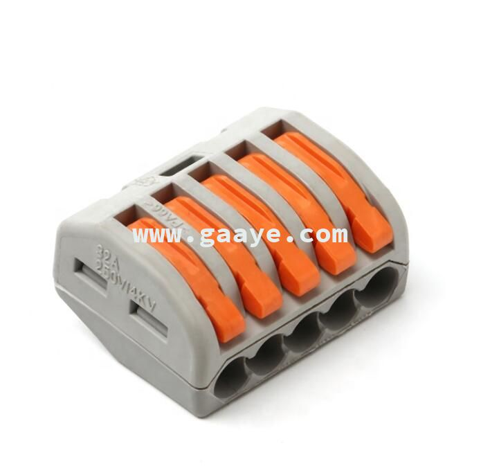 PA66 Universal 5 Pin 400V compact splicing quick connector wire terminals crimp connectors