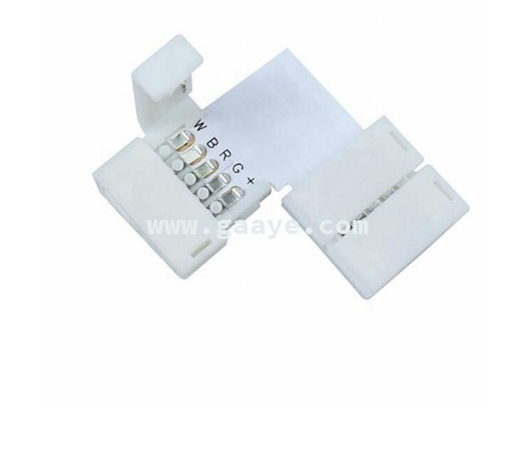 5 Pin PCB Connector RGBW LED Strip Corner Connector L T X Shape PCB Board Splitter Connector for SMD 5050 LED Tape Light