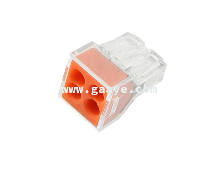 Push-Wire Connector For Junction Boxes 4-Conducts Terminal Block