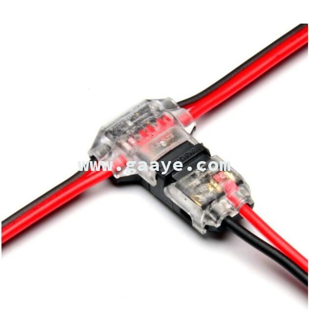 2 Pin dc/ac 300v 10a 18-22awg no welding no screws Quick Connector cable clamp Terminal Block 2 Way Easy Fit for led strip