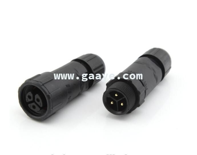 OEM ODM RoHS compliant 2 pin 3 pin IP65 waterproof connector