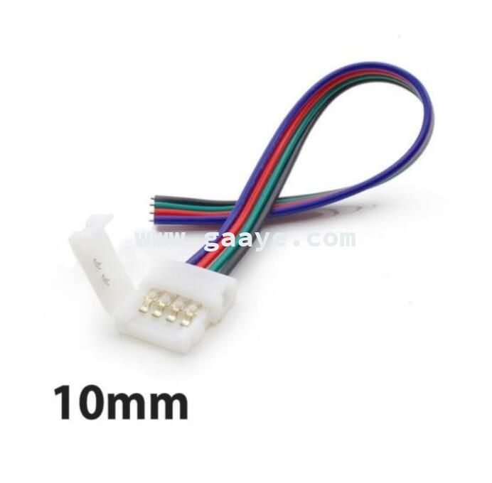 4 Pin 10mm Rgb 5050 3528 Led Strip Light PCB Solderless Connector Cable