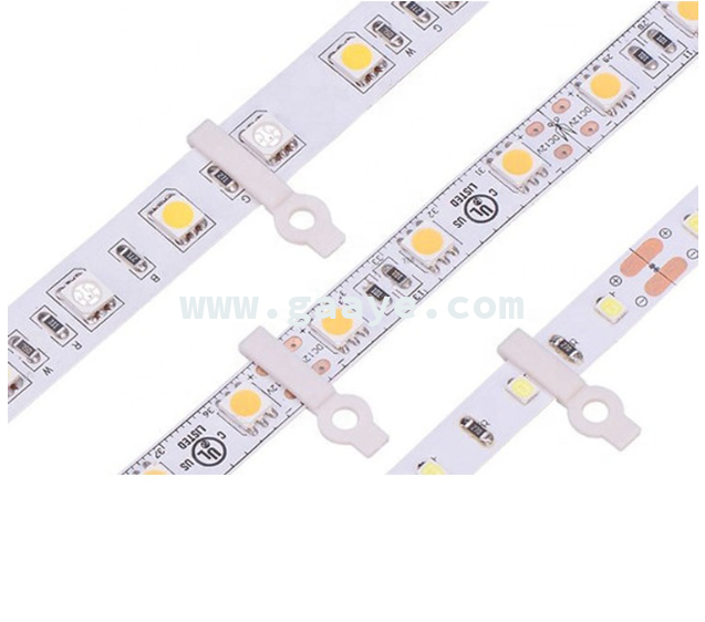 Fixing LED Strip Mounting Clip 8mm 10mm 12mm for Non-waterproof LED Strip Light 3528 5050 5630 5730 RGBW fixing connector
