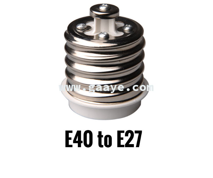 E40 to E27 Adapter Converter Socket Lamp Holder for LED Bulb Spot Light