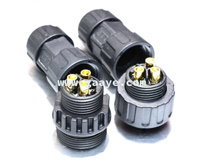35 amp M25 3 poles male and female screw connection waterproof connector