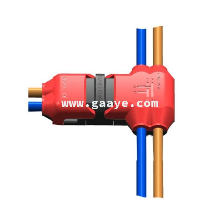 T type 2 Pin Cable Splicing Wire Connector with No Wire-stripping required for Mid-span Branching in Wires Connection