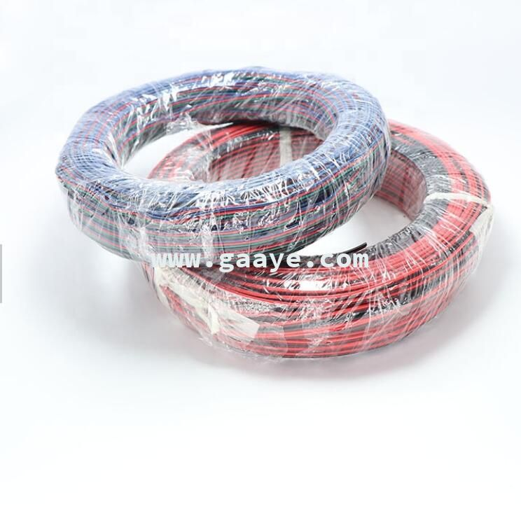 Electric Wire Cable 24AWG 22AWG 20AWG 18AWG 16AWG Flat 2pin 3pin 4pin 5pin 6pinRGB Wire for LED Strip Light
