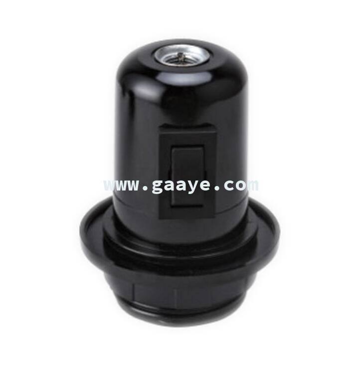 UK universal half thread metal tooth with outer ring bakelite lamp holder touch switch socket electrical
