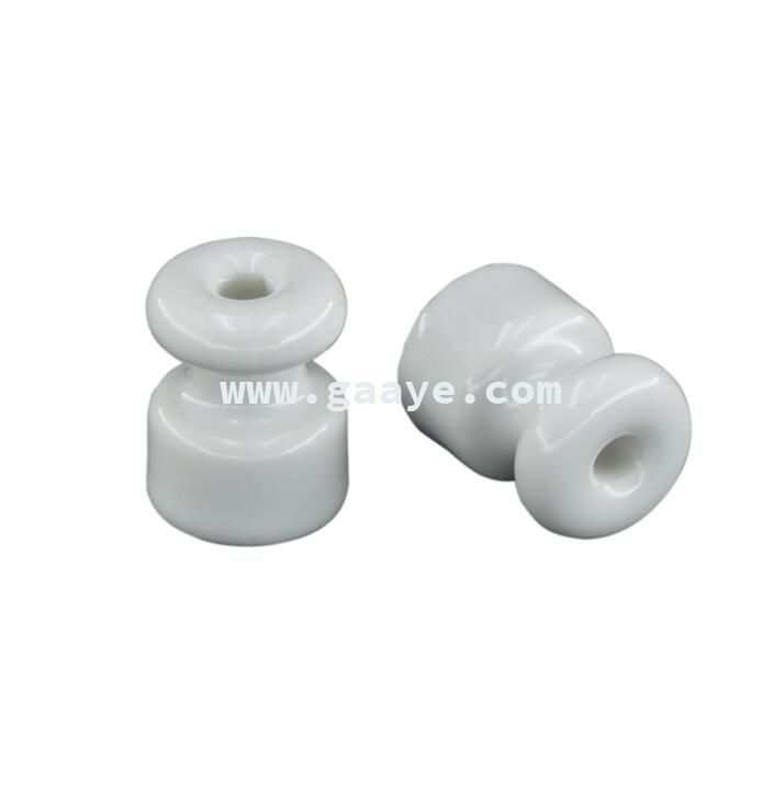 18*23mm different types of wall mounted glazed ceramic spool insulator