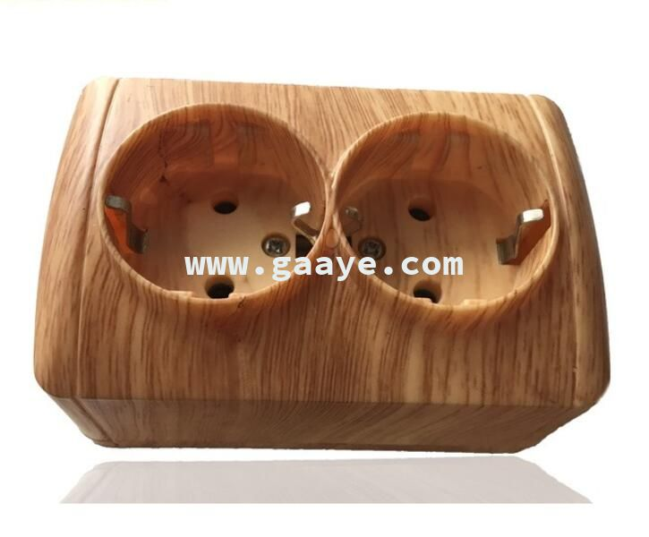 CE certification Sirode dark wooden color wall socket