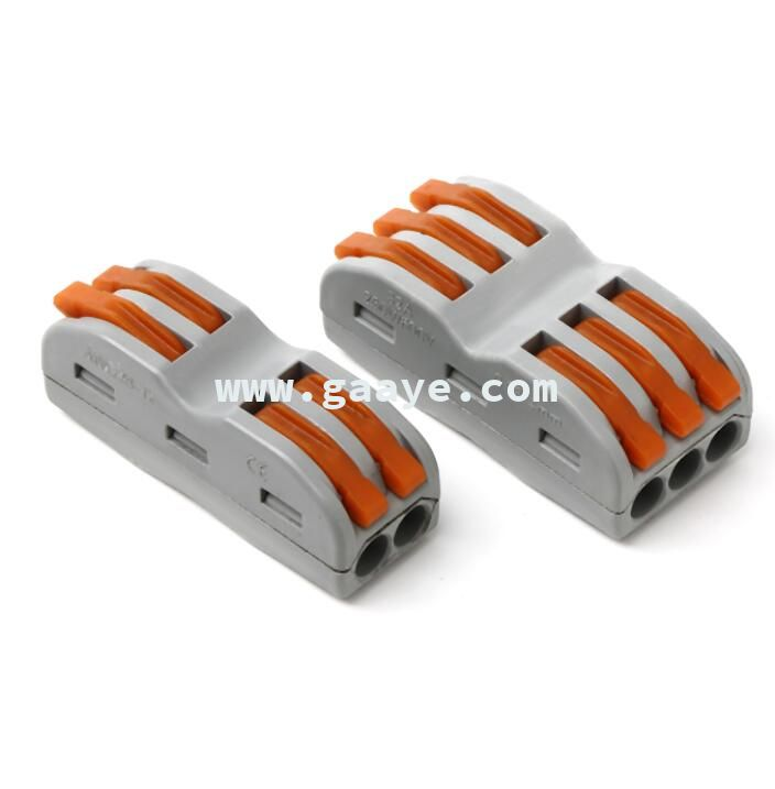 Compact Wire Wiring Connector 2 pin Connector Terminal Block With Lever