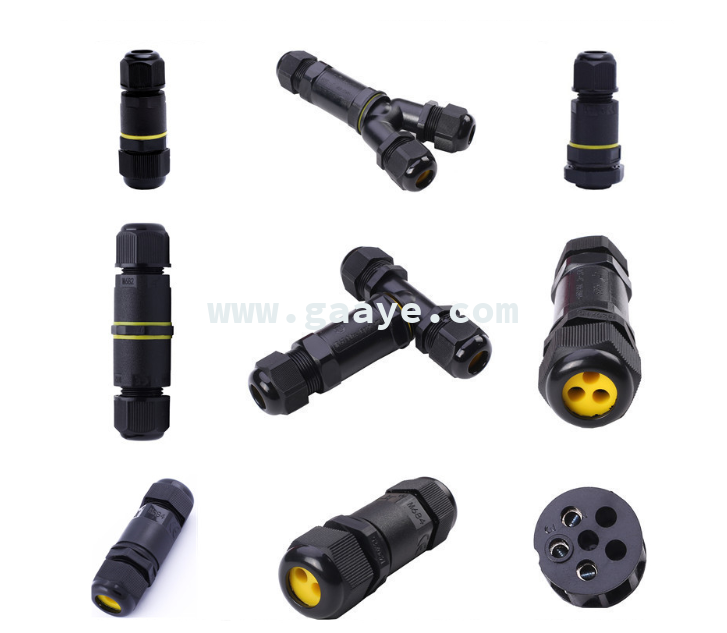 ip68 3pin waterproof connector 5pin electrical cable connector waterproof terminal block