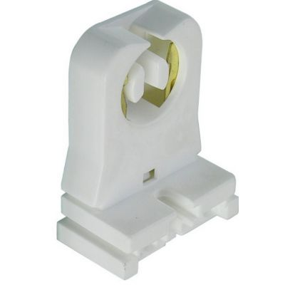 Non-shunted T8 Lamp socket Holder Socket Tombstone for LED Fluorescent Tube Replacements Turn-type Lampholder