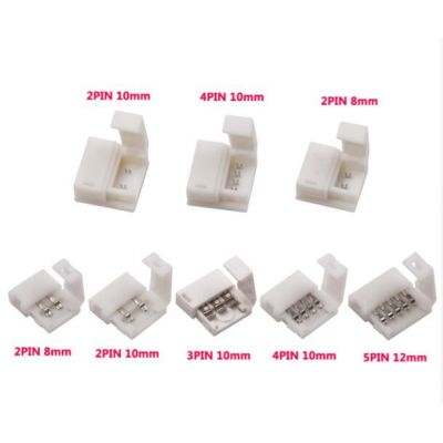 5 pin solderless For 8mm/10mm 5050/3528/ws2811/ws2812b/5630/5730 smd LED Strip