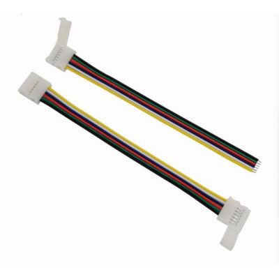 6 pins 12mm LED Strip Light Quick Connectors with cable