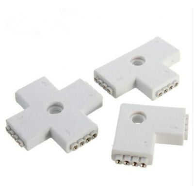 4 Pin LED Connector L / X / T Shape Connection Extension Wire For RGB LED Strip Light