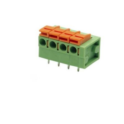 green screw terminal block connector with 4 poles