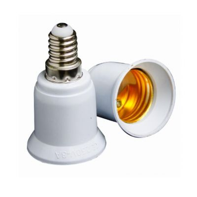 CE E27 to E14 plastic converter/adapter lamp holder