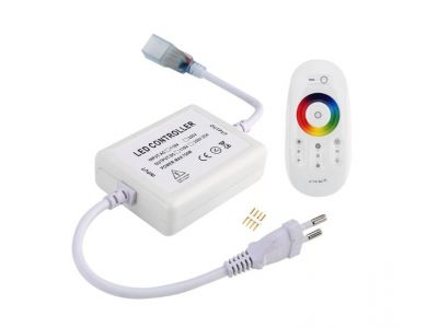 110V 220V 2.4 g wireless remote led controller full touch control RGB 5050 led light strip controller