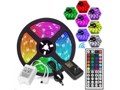 SMD5050 RGB 150LEDS 5M 44KEY controller with power adapter led strip